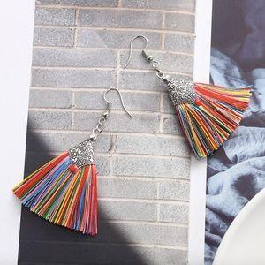 Jewelry - Boho Multicolored Tassel Ethnic Dangle Earrings